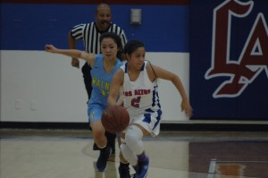 Brenda Reyes playing against Walnut.