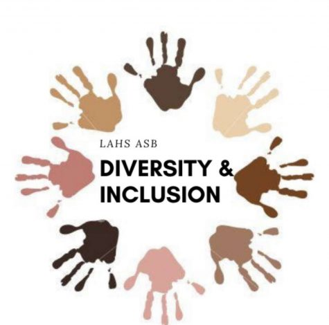 Pictured here is the official logo for ASB's Diversity and Inclusion, @lahsdiversityinclusion on Instagram.