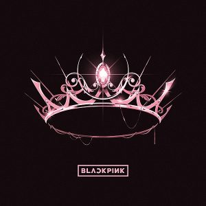 """Blackpink's new album """"The Album"""" features a pink crown on the cover, matching the simplicity of the title yet the intensity of the music. Photo courtesy of Wikimedia Commons"""