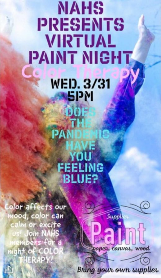 NAHS hosts a paint night, promoted by this flyer. Photo Courtesy of Alyssa Borbon.